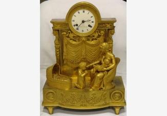 Старинные каминные часы с боем»Молитва перед сном»